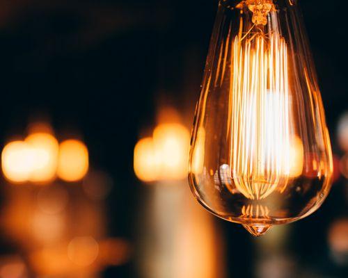 Licht-Symbolbild Glühbirne