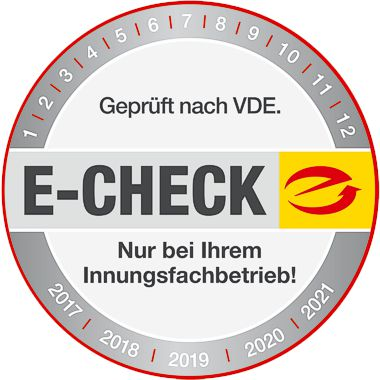 E-Check Plakette als Symbolbild